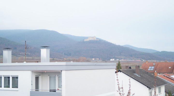 Wohnung mit Blick auf das Hambacher Schloß